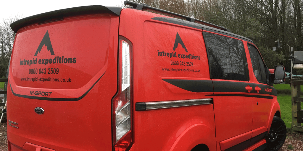 Intrepid Expeditions Van with logo